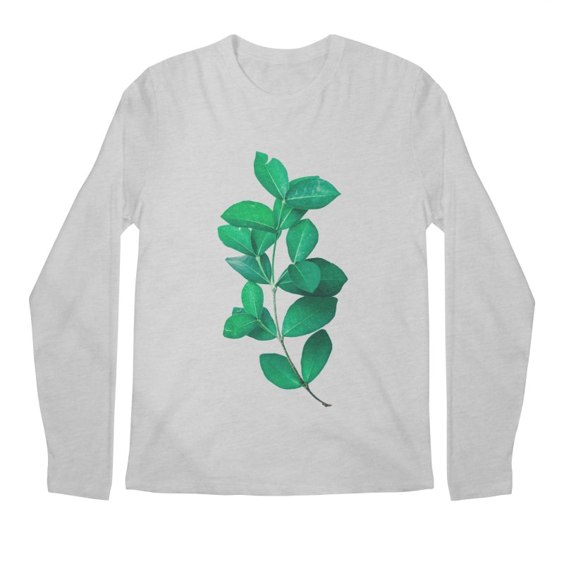 Green Leaves Men's Longsleeve T-Shirt by KUI1981