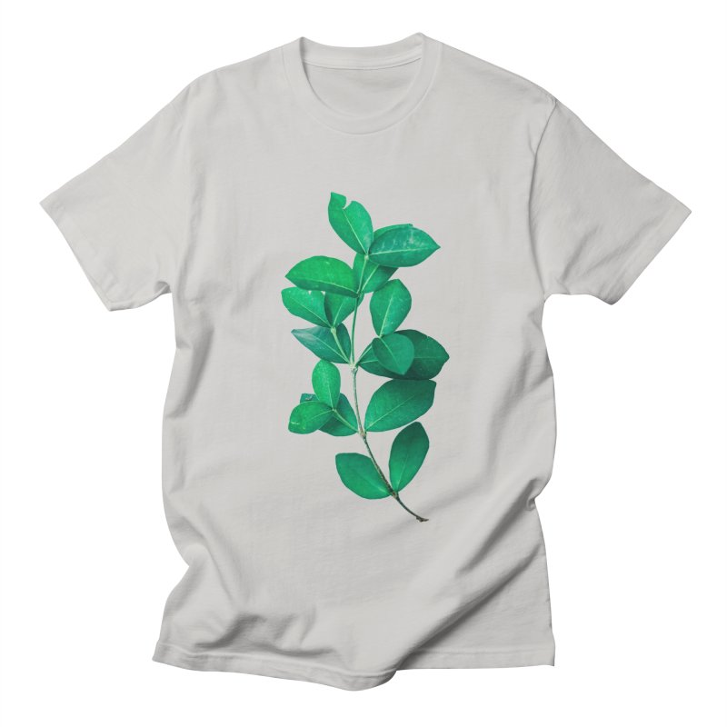 Green Leaves Men's T-Shirt by KUI1981