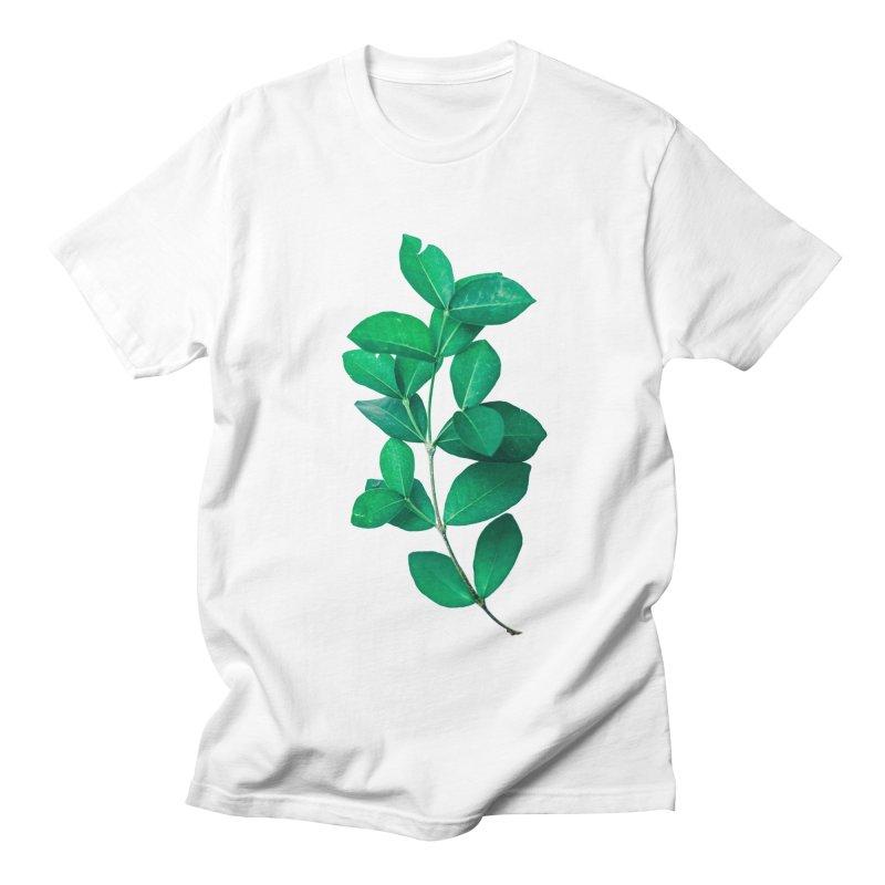 Green Leaves Men's T-Shirt by KUI1981