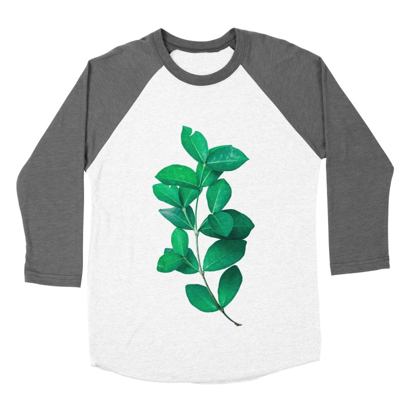 Green Leaves Women's Baseball Triblend T-Shirt by KUI1981