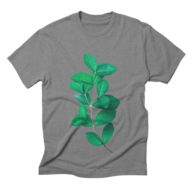 Green Leaves Men's Triblend T-shirt by KUI1981