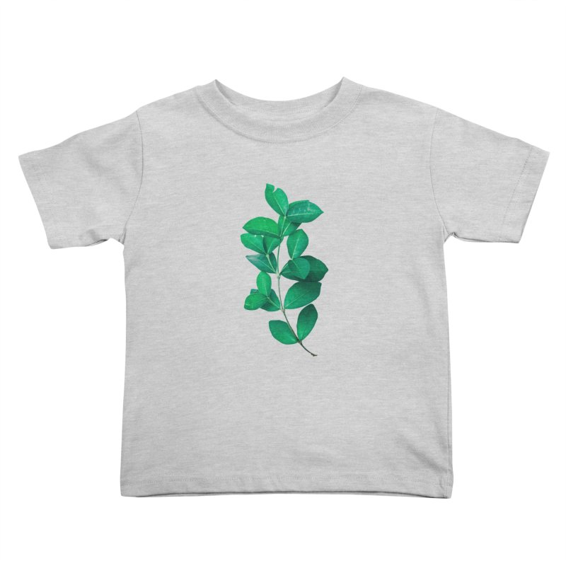 Green Leaves Kids Toddler T-Shirt by KUI1981