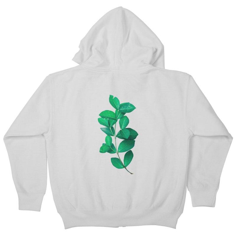 Green Leaves Kids Zip-Up Hoody by KUI1981
