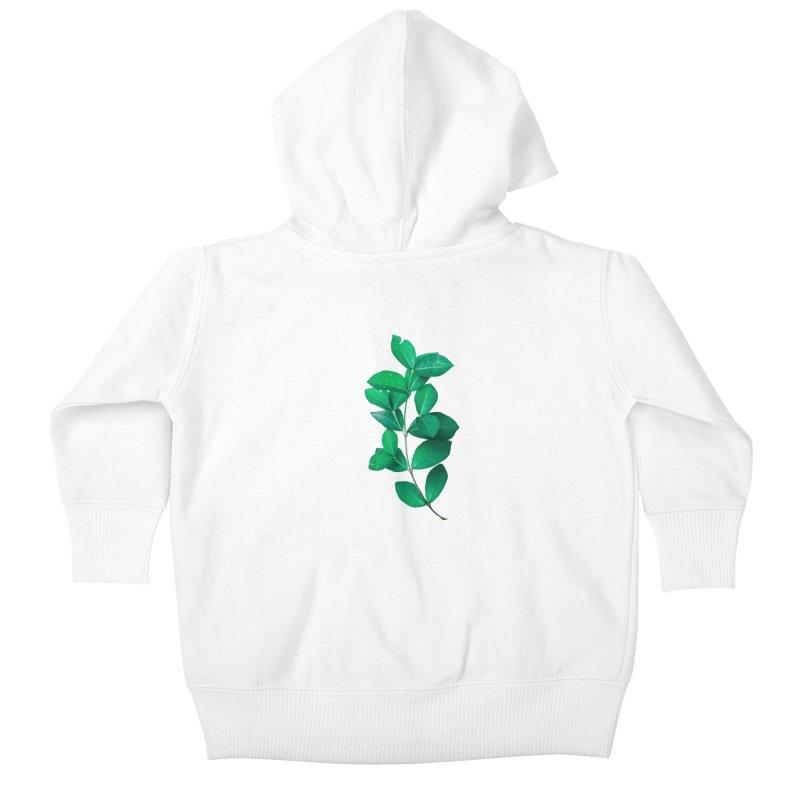 Green Leaves Kids Baby Zip-Up Hoody by KUI1981
