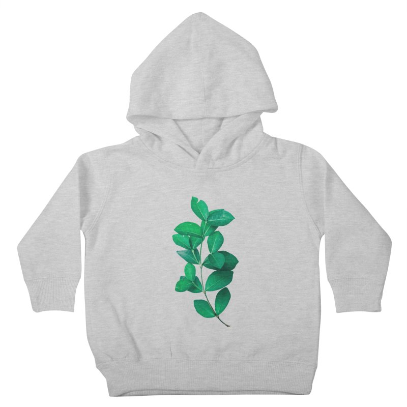 Green Leaves Kids Toddler Pullover Hoody by KUI1981