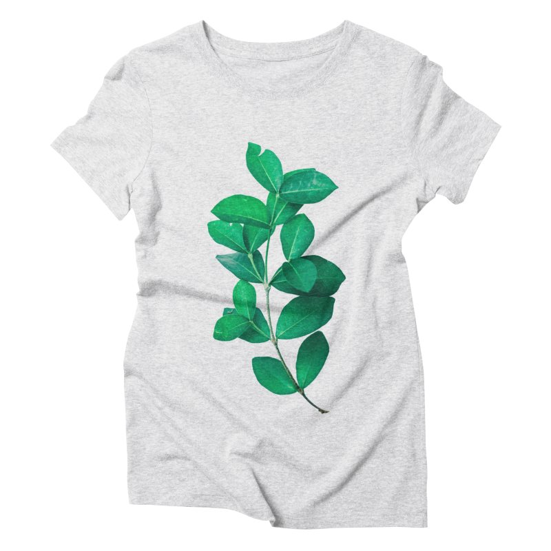 Green Leaves Women's Triblend T-Shirt by KUI1981