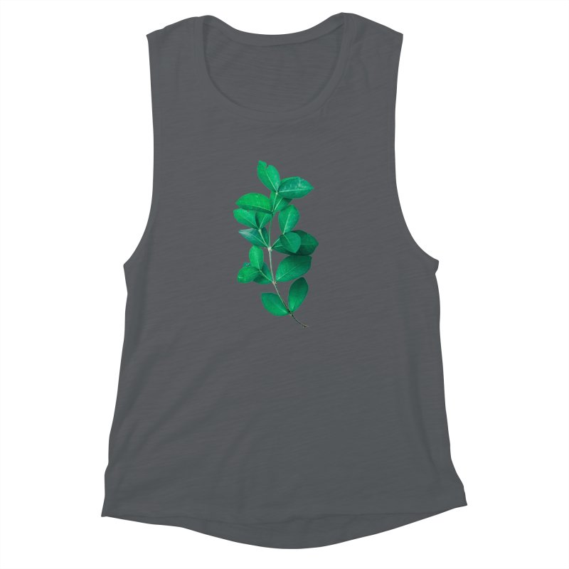 Green Leaves Women's Muscle Tank by KUI1981