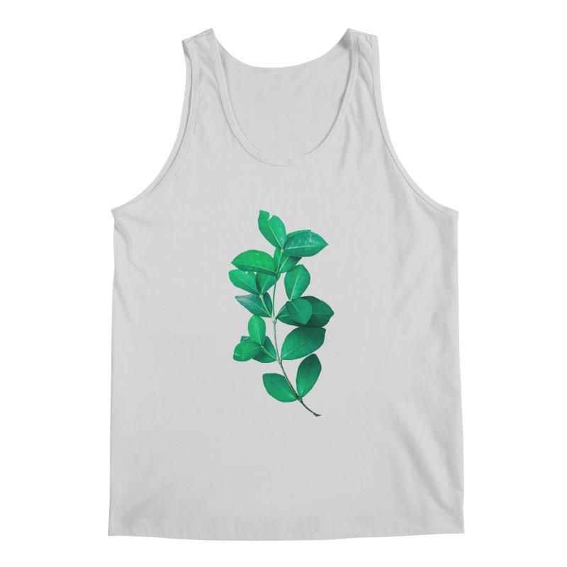 Green Leaves Men's Tank by KUI1981