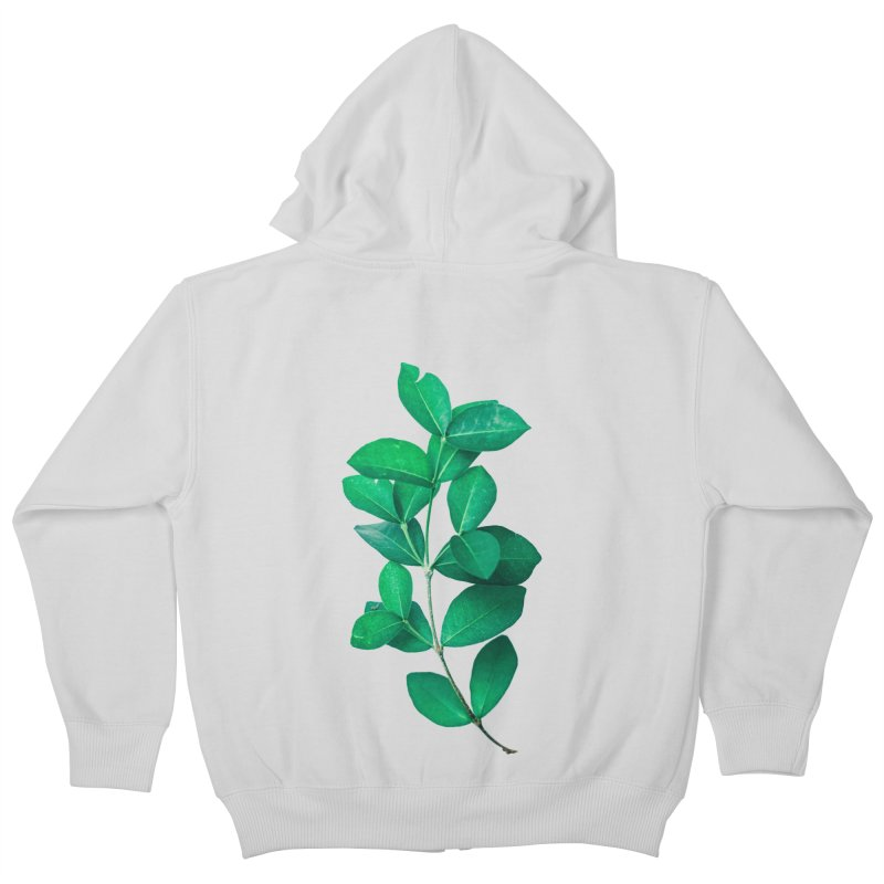 Green Leaves Kids Zip-Up Hoody by KUI1981