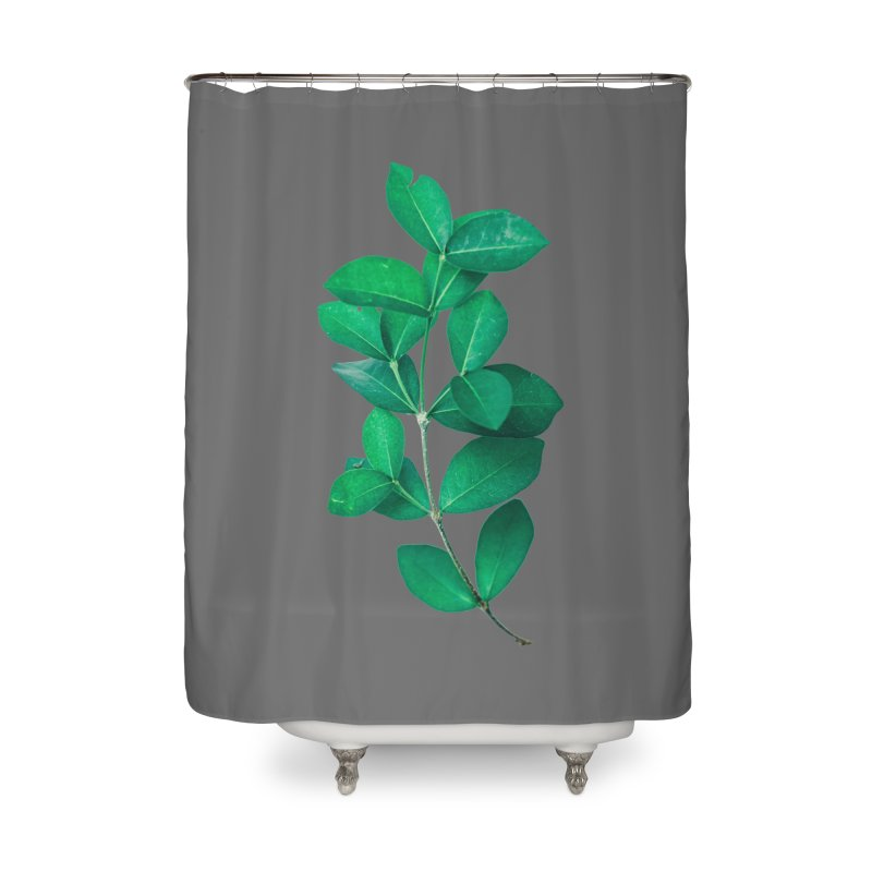 Green Leaves Home Shower Curtain by KUI1981