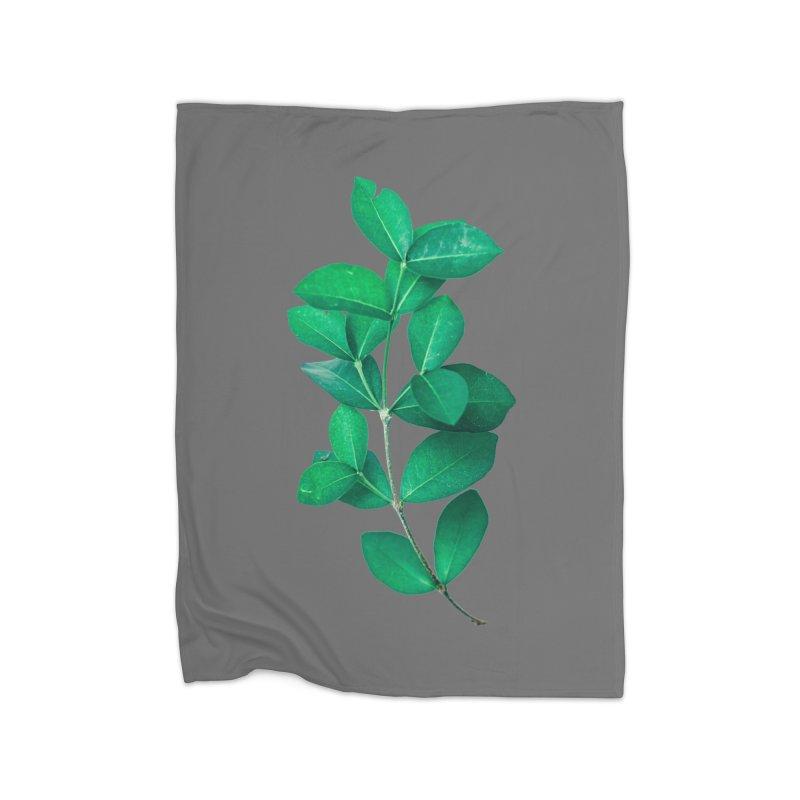 Green Leaves Home Blanket by KUI1981