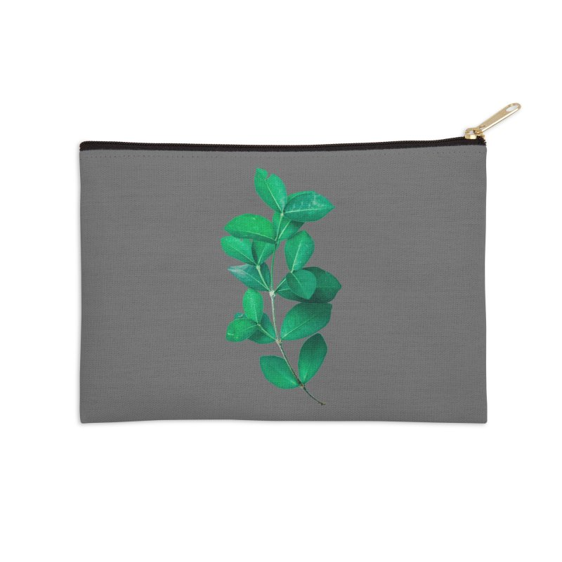 Green Leaves Accessories Zip Pouch by KUI1981