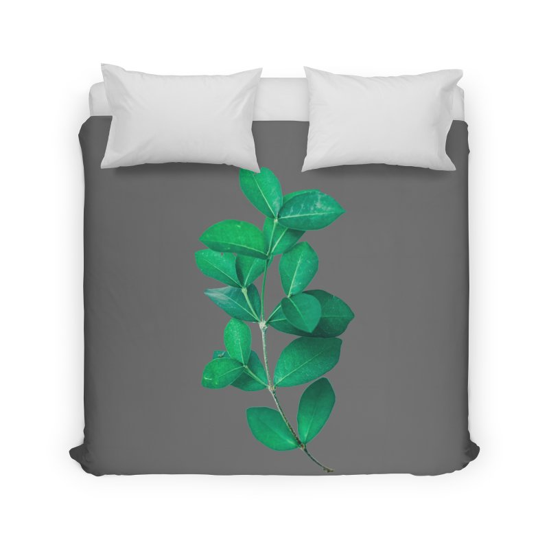 Green Leaves Home Duvet by KUI1981