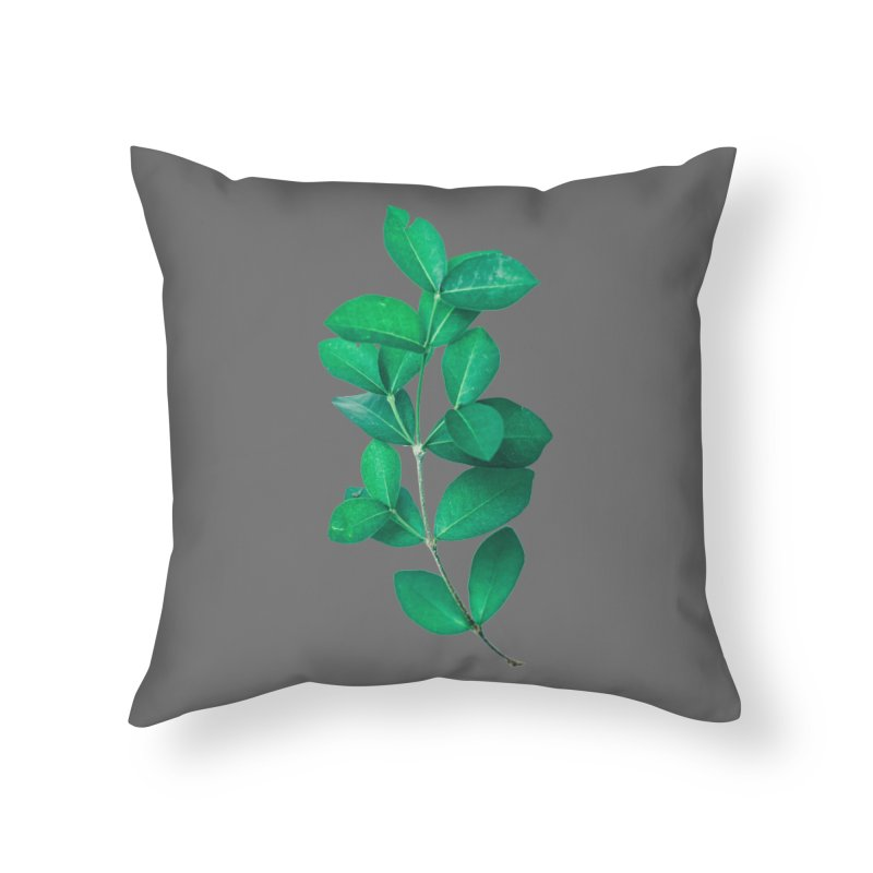 Green Leaves Home Throw Pillow by KUI1981