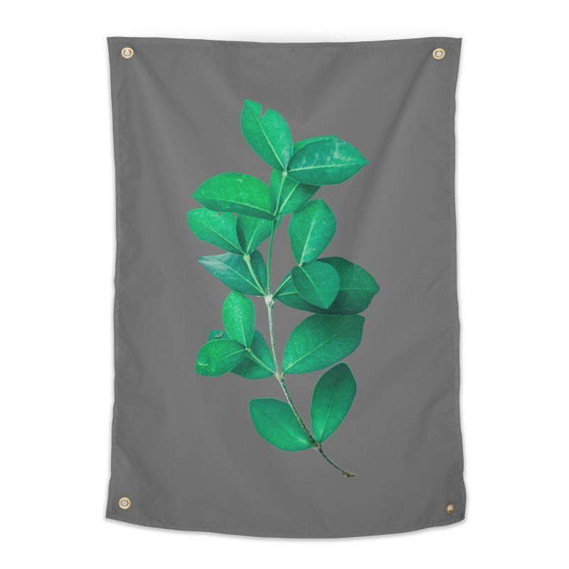 Green Leaves Home Tapestry by KUI1981