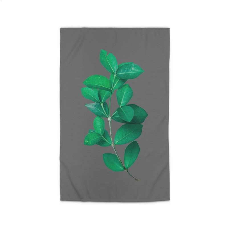 Green Leaves Home Rug by KUI1981