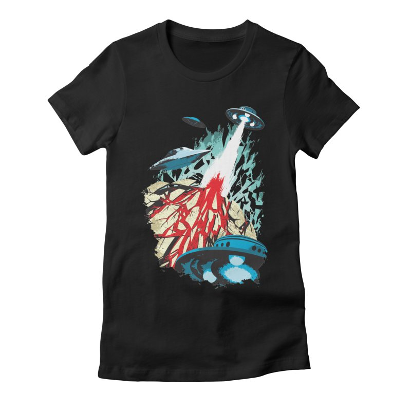 Alien Gangster Women's Fitted T-Shirt by KUI1981