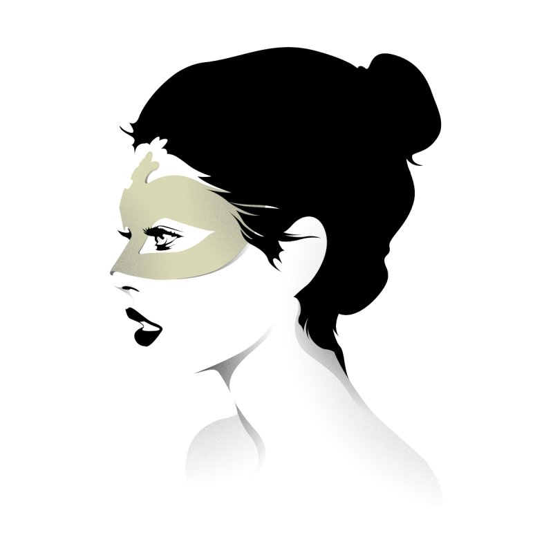 Girl Wearing a Gold Mask  None  by KUI1981