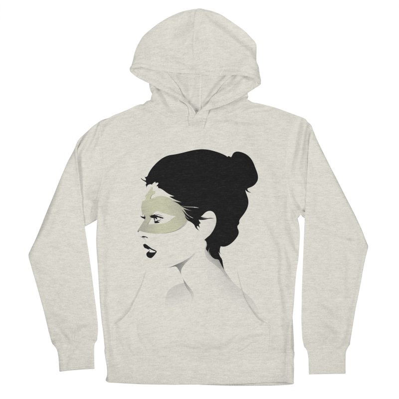Girl Wearing a Gold Mask  Women's Pullover Hoody by KUI1981