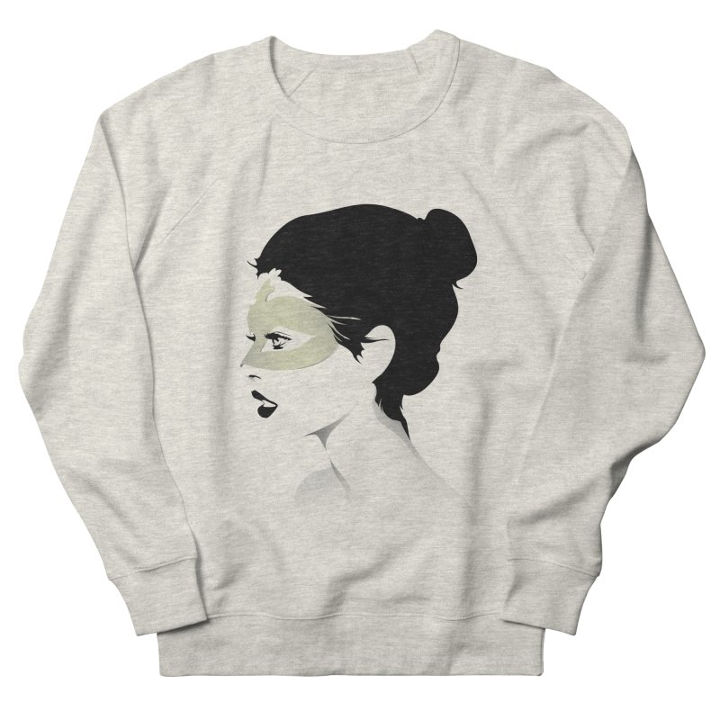 Girl Wearing a Gold Mask  Women's Sweatshirt by KUI1981