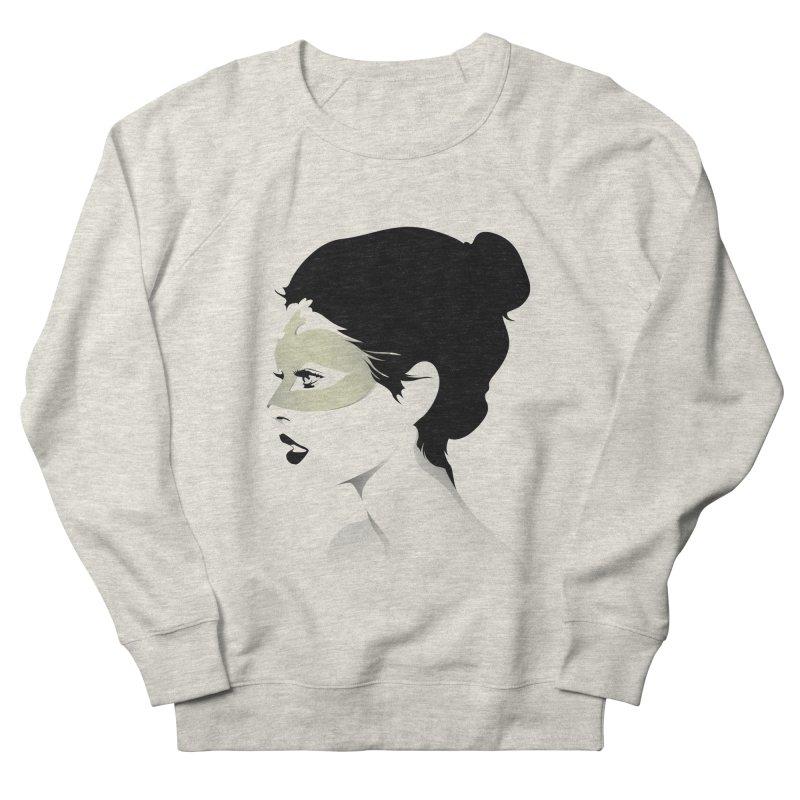 Girl Wearing a Gold Mask  Men's Sweatshirt by KUI1981