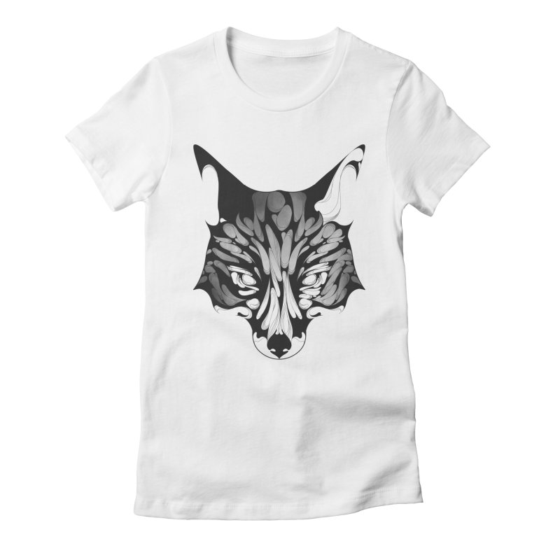 Fox Women's Fitted T-Shirt by KUI1981