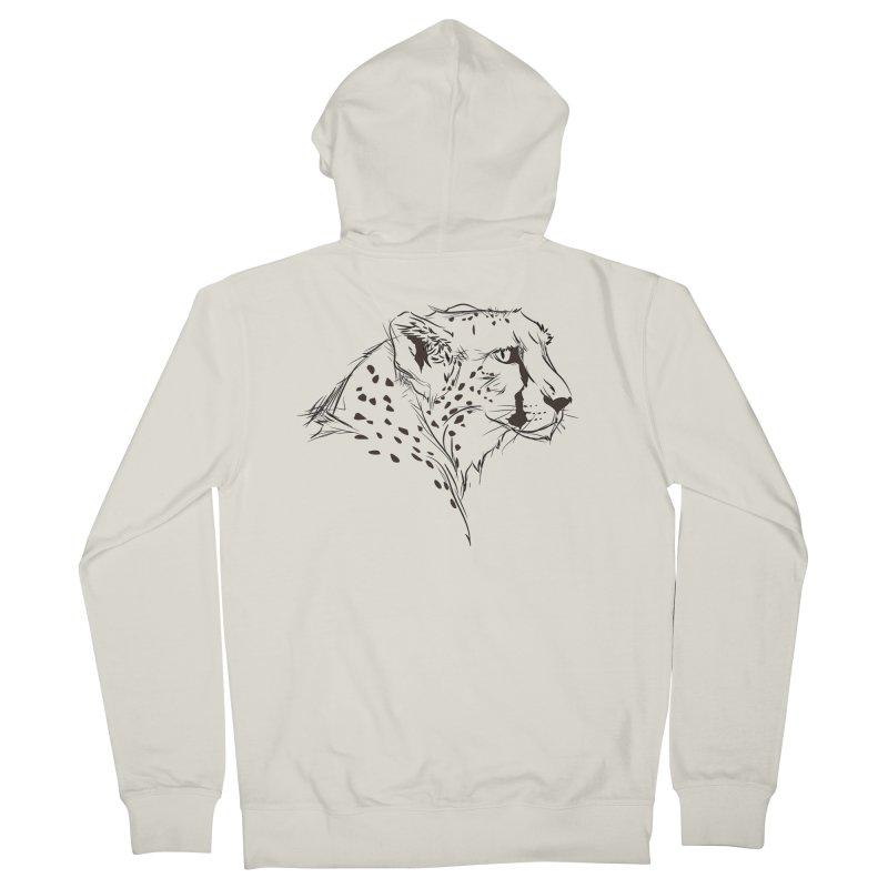 The Cheetah Men's Zip-Up Hoody by KUI1981