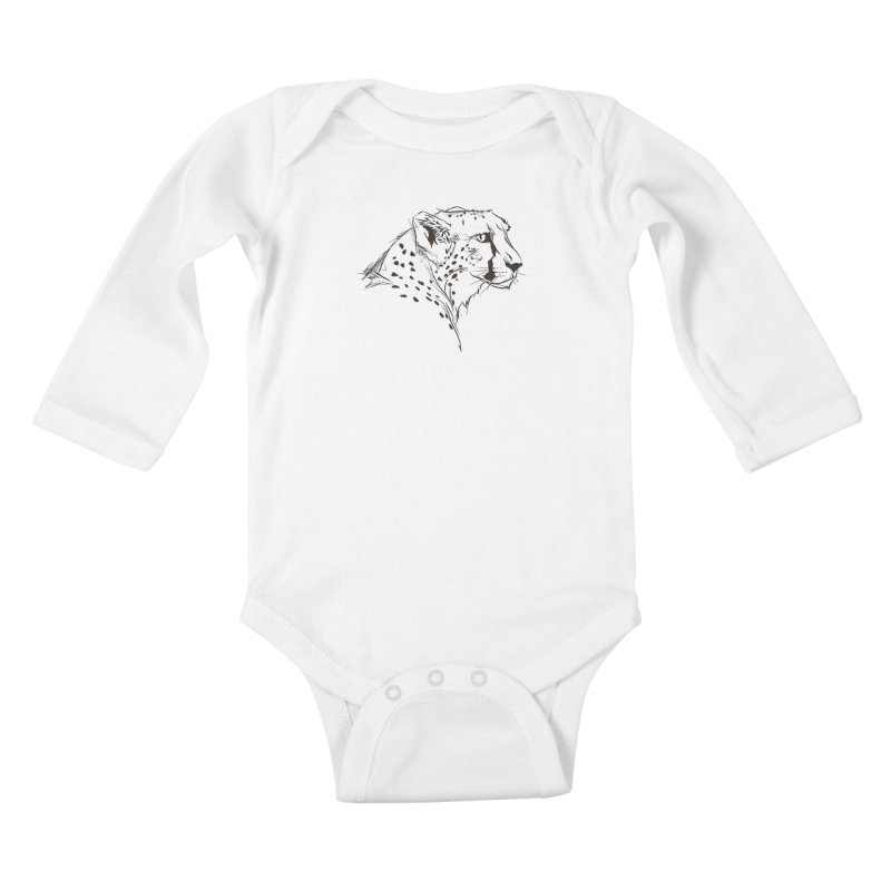 The Cheetah Kids Baby Longsleeve Bodysuit by KUI1981