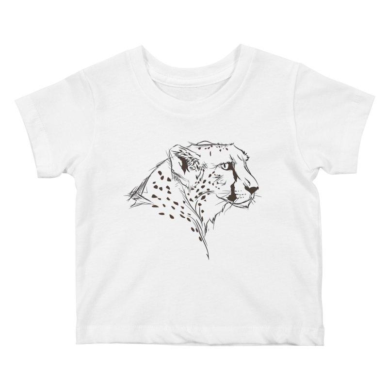The Cheetah Kids Baby T-Shirt by KUI1981