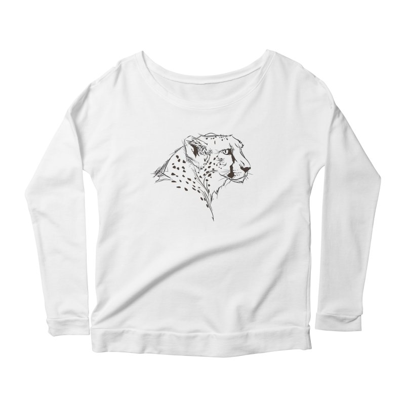 The Cheetah Women's Longsleeve Scoopneck  by KUI1981