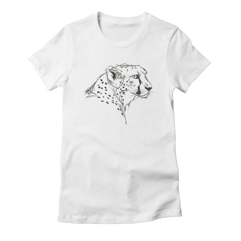 The Cheetah Women's Fitted T-Shirt by KUI1981