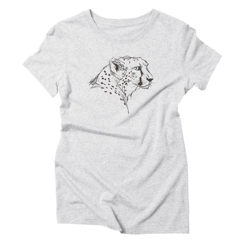 The Cheetah Women's Triblend T-Shirt by KUI1981