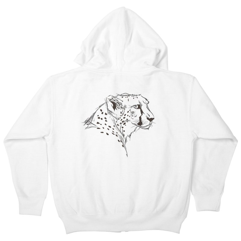 The Cheetah Kids Zip-Up Hoody by KUI1981