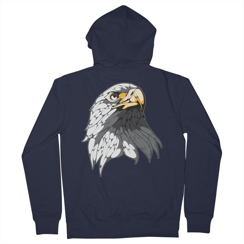 Eagle Men's Zip-Up Hoody by KUI1981