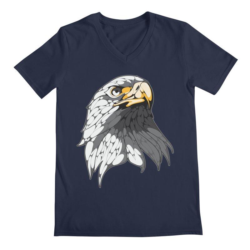 Eagle Men's V-Neck by KUI1981