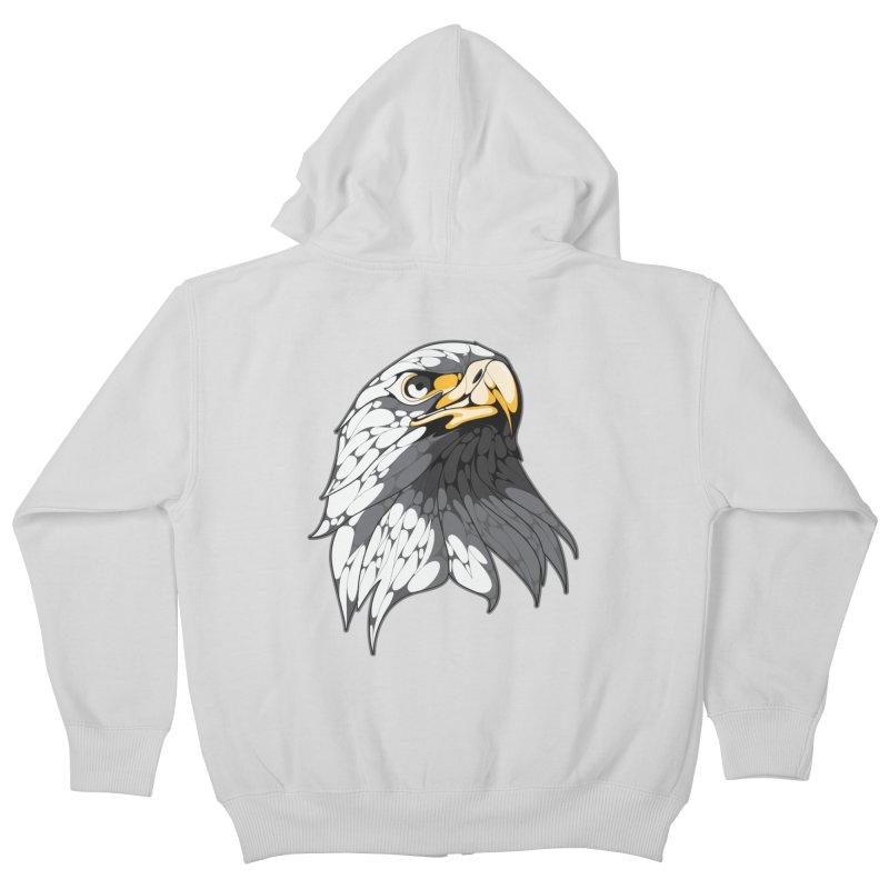 Eagle Kids Zip-Up Hoody by KUI1981