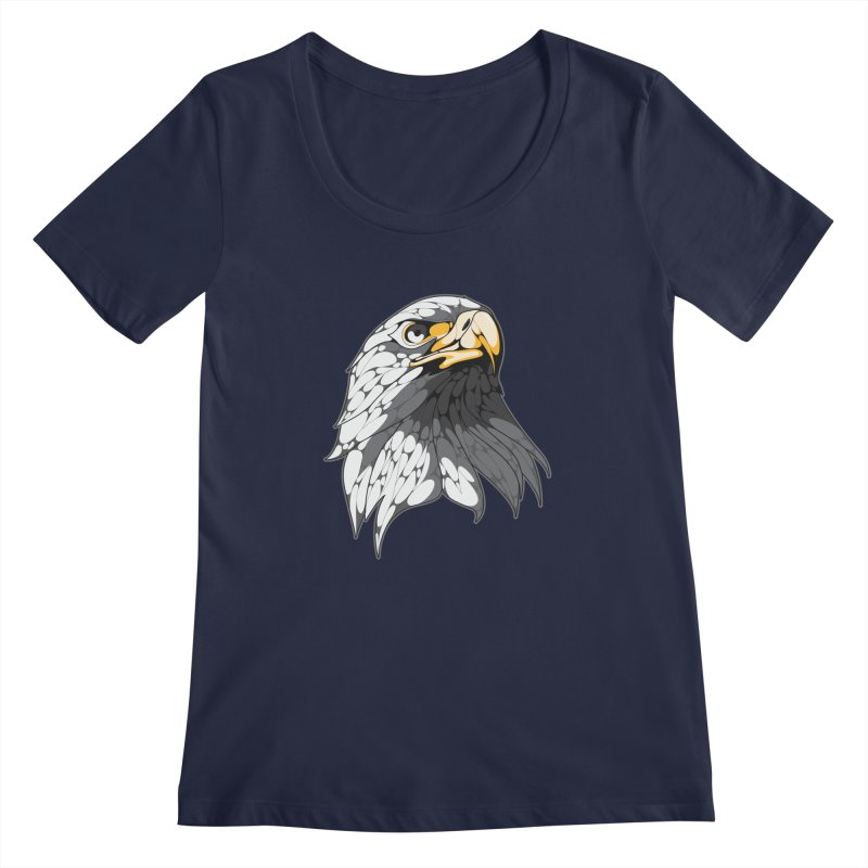 Eagle Women's Scoopneck by KUI1981
