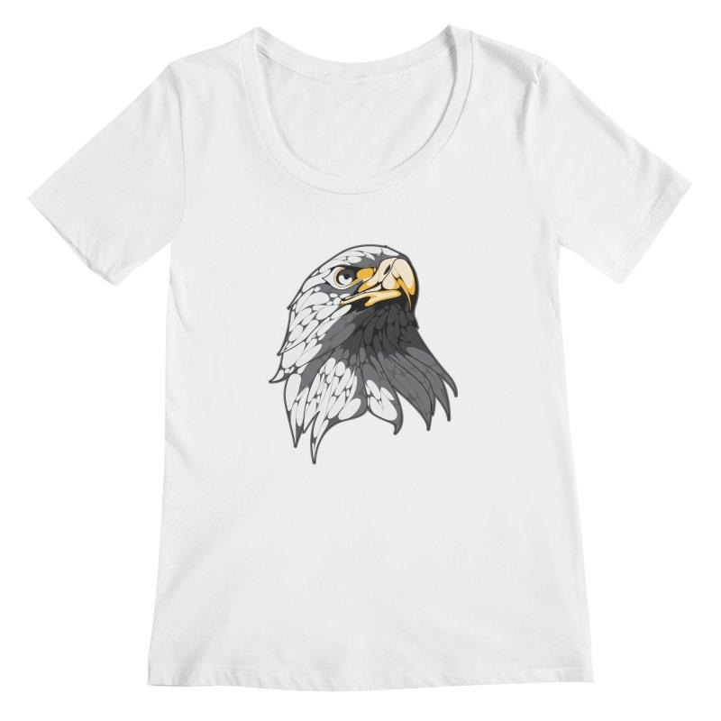 Eagle Women's Scoopneck by KUI1981