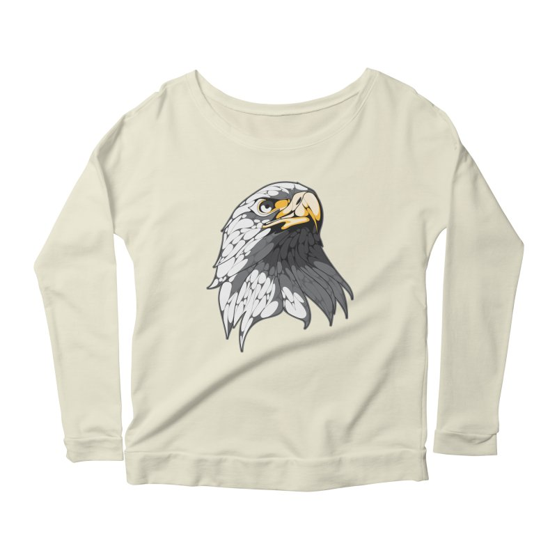 Eagle Women's Longsleeve Scoopneck  by KUI1981