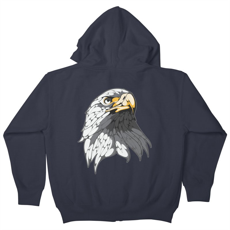 Eagle Kids Zip-Up Hoody by KUI1981