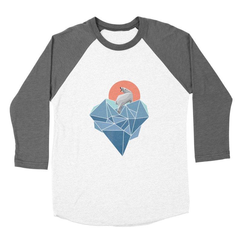 polarbear Women's Baseball Triblend T-Shirt by KUI1981
