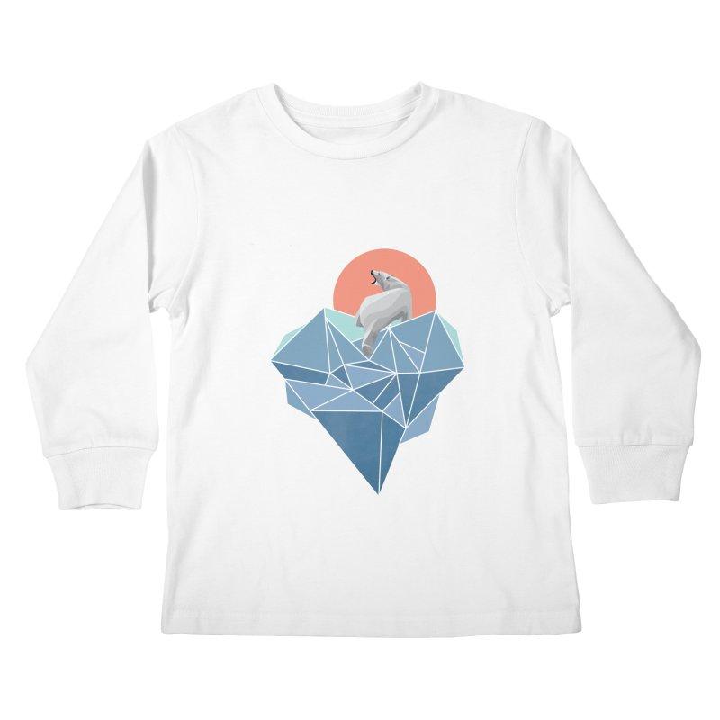 polarbear Kids Longsleeve T-Shirt by KUI1981