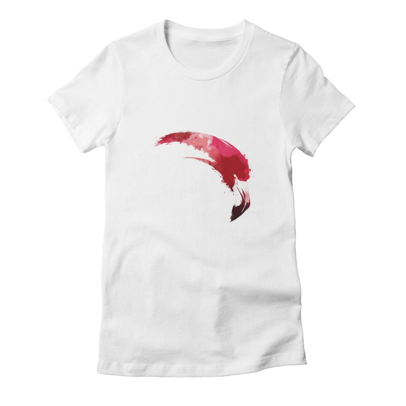 FLAMINGO Women's Fitted T-Shirt by KUI1981