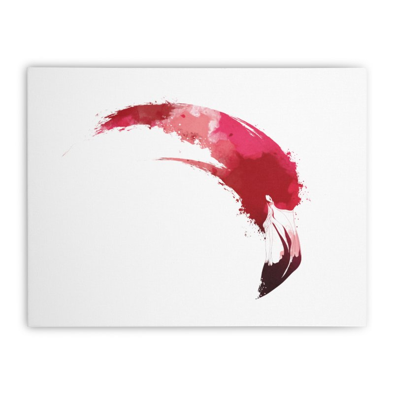FLAMINGO Home Stretched Canvas by KUI1981
