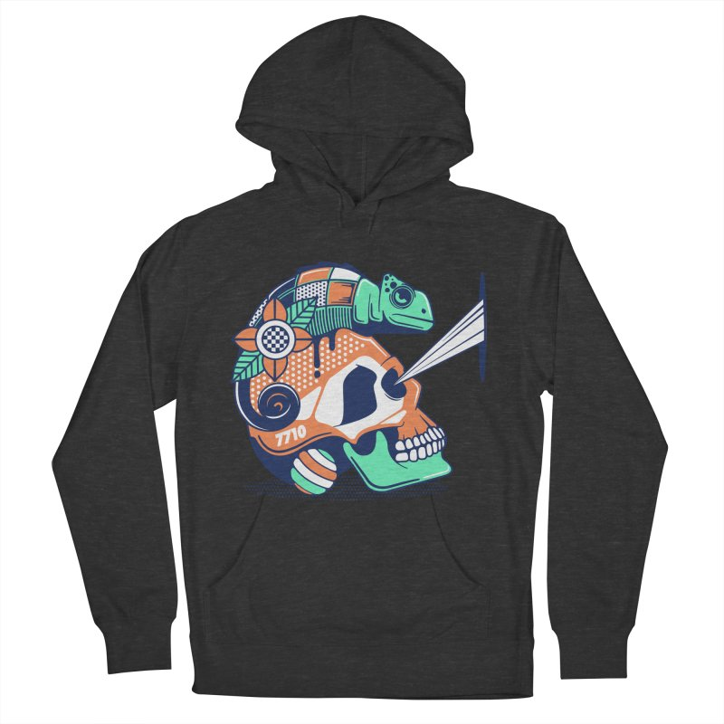 SKULL CHAMELEON Men's French Terry Pullover Hoody by kukulcanvas's Artist Shop