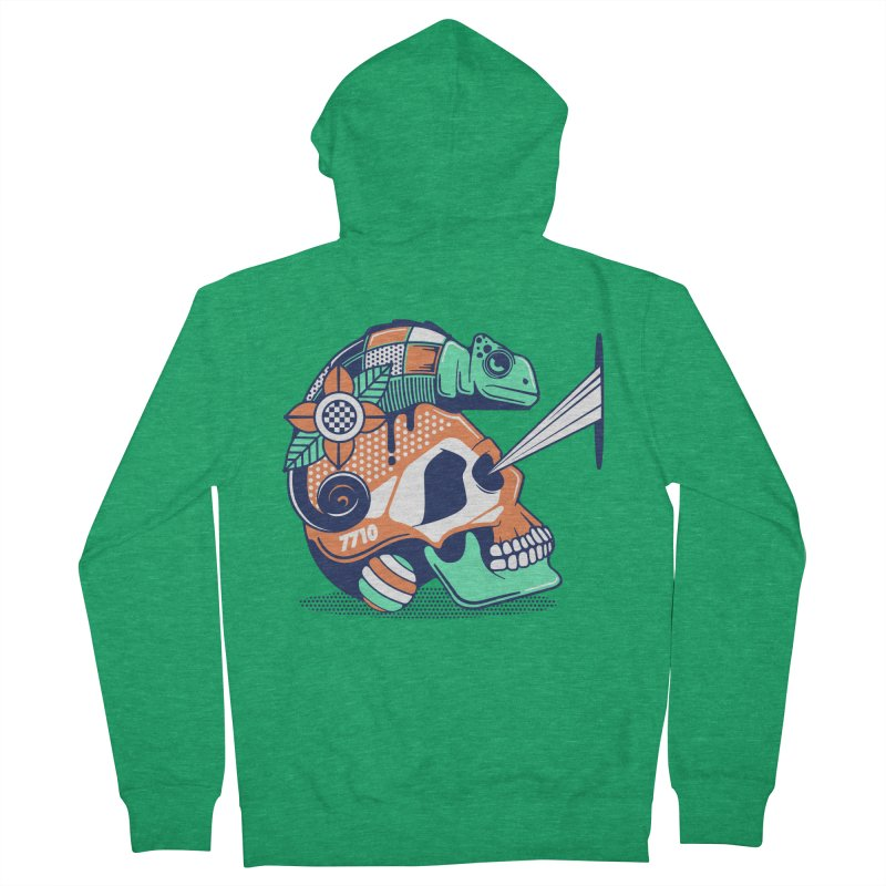 SKULL CHAMELEON Men's Zip-Up Hoody by kukulcanvas's Artist Shop