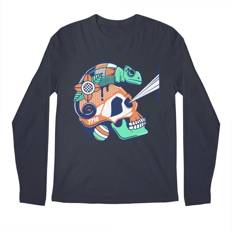 SKULL CHAMELEON Men's Longsleeve T-Shirt by kukulcanvas's Artist Shop