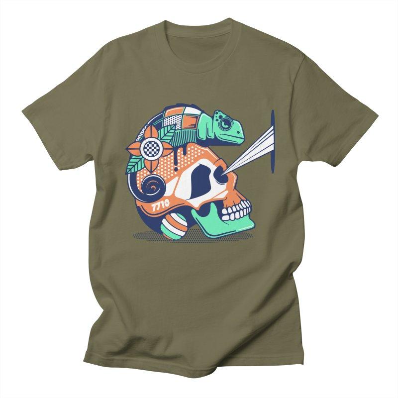 SKULL CHAMELEON Men's T-Shirt by kukulcanvas's Artist Shop