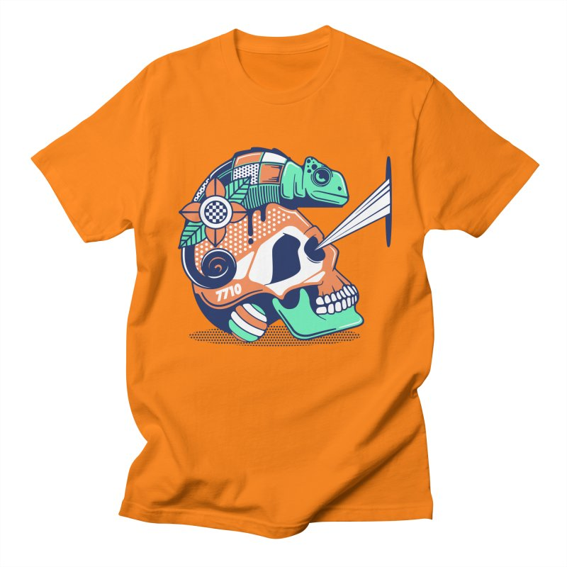 SKULL CHAMELEON Men's T-Shirt by kukulcanvas's Artist Shop