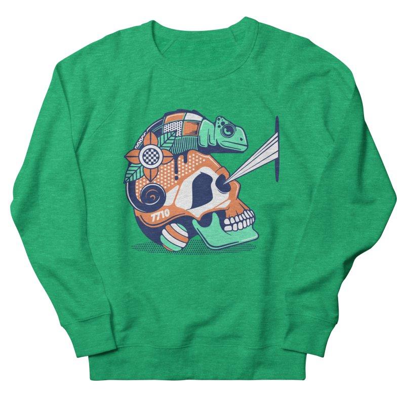 SKULL CHAMELEON Women's Sweatshirt by kukulcanvas's Artist Shop